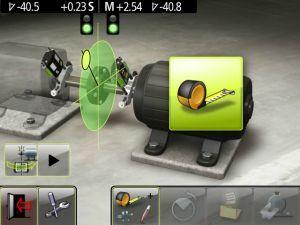Fixturlaser NXA Ultimate Graphic user interface