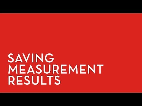 Fixturlaser XA: Saving Measurement Results