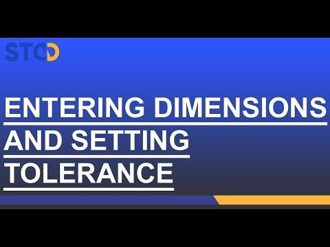 NXA Pro: Entrer les dimensions et régler les tolérances