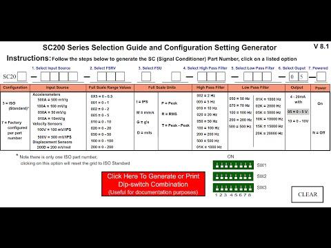 Réinitialiser un signal de la série SC200