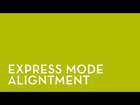 Fixturlaser NXA Pro: Alignement mode Express